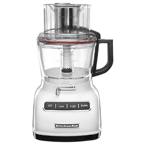 KitchenAid KFP0930WH 9-Cup Food Processor with Exact Slice System and French Fry Disc - White by...