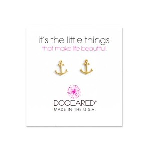 Dogeared SmallアンカースタッドIt 's The Little Things Earrings