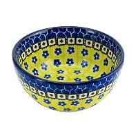 Polish Pottery 4.5, 10 Oz. Ice Cream Dessert Bowl Boleslawiec Traditional Stoneware Pattern 859 by...