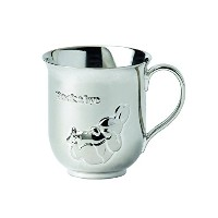 """Wedgwood Peter Rabbit Baby Cup, 3.2"""", Silver by Wedgwood [並行輸入品]"""