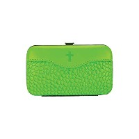 Brownlow Kitchen Gifts Faux Leather Manicure Set with Scripture, Lime Green by Brownlow Kitchen ...