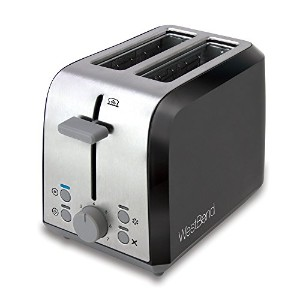 West Bend 78823 Two Slice Toaster, Black/Metallic by West Bend