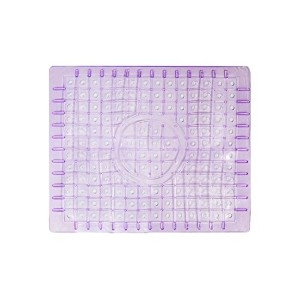 12X10 Kitchen Sink Protector Mat - Regular Clear Square Purple by Attraction Design