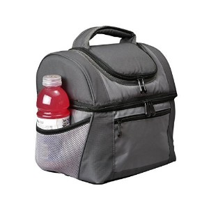 Ultimate Hungry Guy Insulated Double Decker Extra Large Lunch Bag Cooler (11x11x8) For Men At Work...