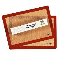 Cegar Premium Non-Stick Silicone Baking Mat Sheet Piece US Half Size (2 Thick&Large 11 5/8 x 16 1/2...