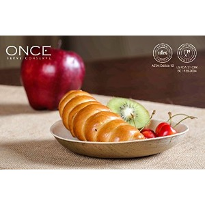 ONCE Tableware - Classic (Small) (Size : Dia 5.60x0.80 inches)-Set of 25 Ecofriendly Disposable...