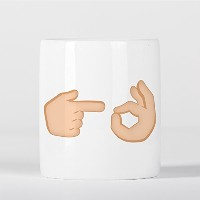 Fingers OK Hand Sign Emoji Funny 貯金箱