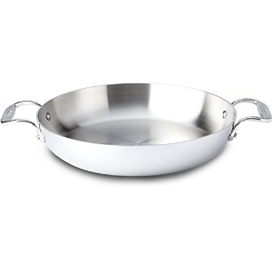All-Clad 48118 Stainless Steel Tri-Ply Low Casserole, 11-Inch, Silver [並行輸入品]