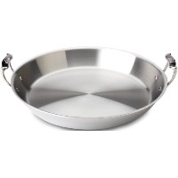 All-Clad 4416 Stainless Steel Tri-Ply Bonded Dishwasher Safe Paella Pan / Cookware, Silver by All...
