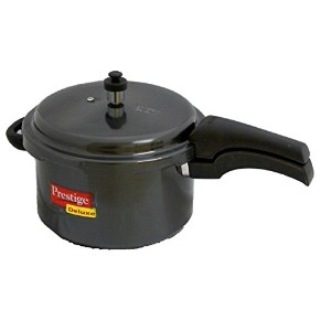 Prestige Deluxe Hard Anodized Black Color Pressure Cooker, 5-Liter [並行輸入品]