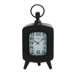 Deco 79 Metal Table Clock, 8 by 17-Inch [並行輸入品]