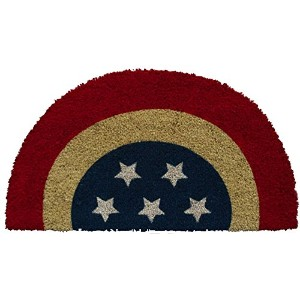 Evergreen Patriotic Bunting Coir Mat, 28 x 16 inches