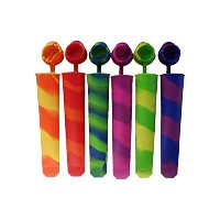 XHSP Self Made Silicone Popsicle Ice Pop Molds With lids attached, Ice Cream Maker Popsicle Molds...