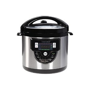 Tayama TMC-60XL 6 quart 8-in-1 Multi-Function Pressure Cooker, Black by TAYAMA