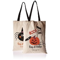 PJS-MAX Halloween Candy Bags Natural Cotton Material Fastened Thread Bear 44 Ibs with Drawstring ...