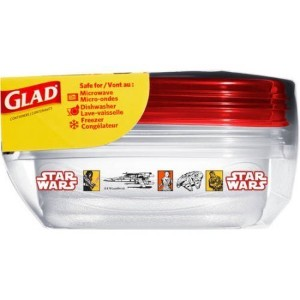 3 count Glad Disney Star Wars Medium Sandwich Containers & Lids by Glad