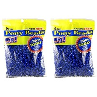 Darice 06121-2-03 1000 Count Pony Beads, 9mm, Opaque Blue by Darice