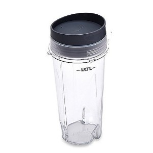 Ninja Blender Cup - 16 oz Single Serve to go Cup with Lid / 3 inch Diameter- fits Ultima &...