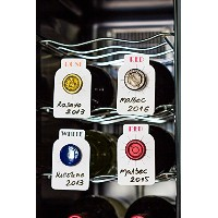 120 Dual labeled erasable Wine cellar tags ID (100 Red/White + 20 Rose/Rose) for wine bottles...