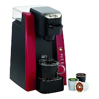 Mr. Coffee BVMC-SC500R-1 Single Cup K Cup Brewing System, Removable 24-oz Water Reservoir, Red, 1...
