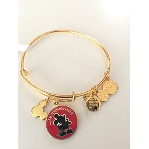 Disney Alex and Ani It All Started With a Mouse Gold Charm Bangle Bracelet by Disney [並行輸入品]