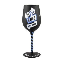 Top Shelf Facebook What's on Your Mind? Wine Glass [並行輸入品]
