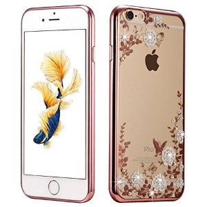 iPhone 7 Case, Miniko(TM) Butterfly Floral Series - [Electroplate Bumper] Slim Luxury Lightweight...