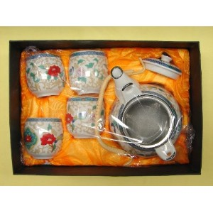 Tea Sets with Peony Flower Pictures