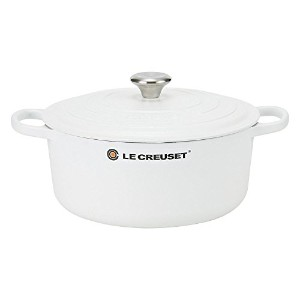 Le Creuset ルクルーゼ SIGNATURE シグニチャー Cocotte ronde 28cm ココットロンド Cotton コットン 両手鍋 [並行輸入品]