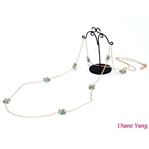 Diane Yang☆ダイアン・ヤン【Bella Long Necklace/turquoise】