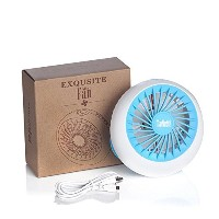 TIanNorth Fashion USB Rechargeable Mini Fan With Portable Air Conditioner Fan Blue by TianNorth