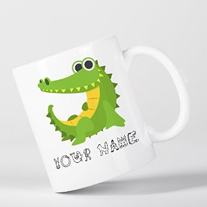 Personalised Crocodile Alligator Cute Animal Zoo Children Customizable マグカップ