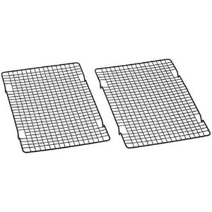 Baker's Secret 1061483 10-by-16-Inch Nonstick Cooling Rack, Set of 4 by Baker's Secret