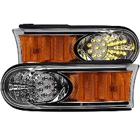 Anzo USA 511077 Chrome LED Parking Light with Amber Reflector for Toyota Fj Cruiser [並行輸入品]