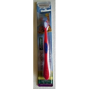 Patanjali Junior Red Clean Toothbrush Original Brand New Free Shipping_Nuttakang shop. by Nuttakang