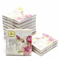 """Cypress Home Paper Cocktail Napkins French Lilacs 10"""" 3-ply Set of 12"""