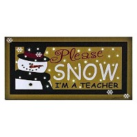 Please雪LEDライトアップ6x 12ストレッチキャンバスヴィンテージ壁Sign Plaque