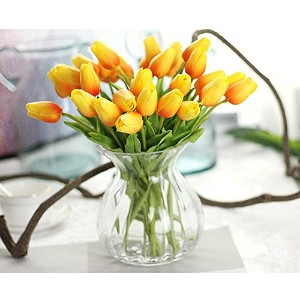 Linyuan 安定した品質 10PCS Latex Real Touch Tulip 花 Flower Bouquets Bridal Wedding Home アールデコ Decor...