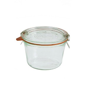 Weck 7410.25リットル金型Jars–6in Aセット、with Lids、6リング& 12クランプ