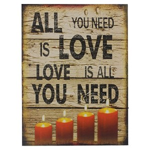 "Oak Street卸売15.5 "" X 11.5 "" Light Up壁キャンバス – All You Need Is Love"