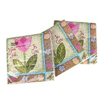 """EVERGREEN Paper Cocktail Napkins Faith Florals 10""""X10"""" 3-ply Set of 12"""