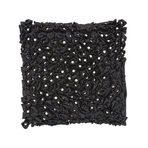 Cloud9 ROMANCEPEARLB-BK Decorative Pillow, 18-Inch x 18-Inch, Black [並行輸入品]