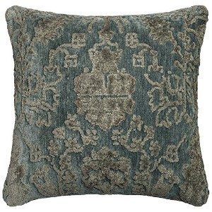 POLY SET Loloi PSETGPI15GYBBPIL3 Grey/Blue Decorative Accent Pillow, 22' x 22' [並行輸入品]