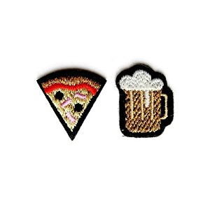 "(マコンエレスコア) MACON & LESQUOY DUO OF ""BEER & PIZZA"" PATCHES ワッペン"