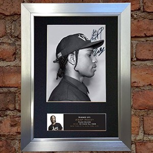 A$AP ROCKY Signed Autograph Mounted Photo Repro A4 Print 583 (Silver frame)