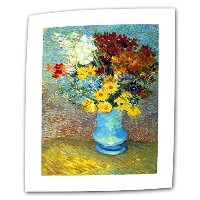 Art Wall Vase with Red Poppies by Vincent Van Gogh 14 by 18-Inch Flat/Rolled Canvas Art with 2-Inch...