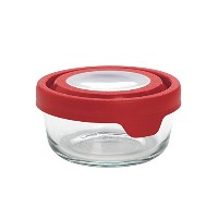 Anchor Hocking 2 Cup TrueSeal Round Food Storage Container, Cherry