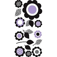 Wall Pops 99789 Purple Floral Wall Art Wall Art Kit