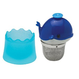 HIC Floatin・EE?・EE Whale Loose Tea Leaf Tea Infuser and Drip Catcher