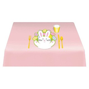 Egg-stra Special Easter Bunny Glossy Placemat Party Tableware, Plastic, 16 x 16